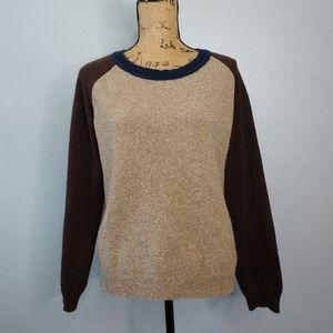 Patagonia Loislee Crew Beige Brown Raglan Sweater